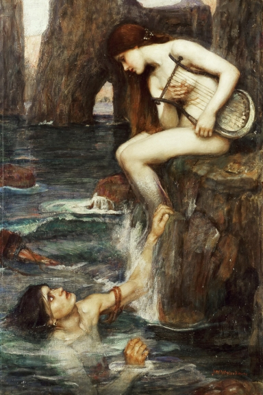 Neo-Classical-figurative-painting-canvas-portrait-poster-beauty-picture-giant-picture-The-Siren-home-decor-modern.jpg
